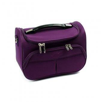 Duży kuferek na kosmetyki, kosmetyczka podróżna - Airtex 2897VA fioletowy