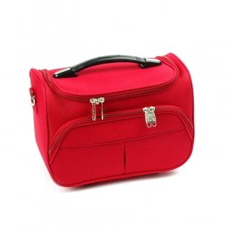 Duży kuferek na kosmetyki, kosmetyczka podróżna - Airtex 2897VA czerwony