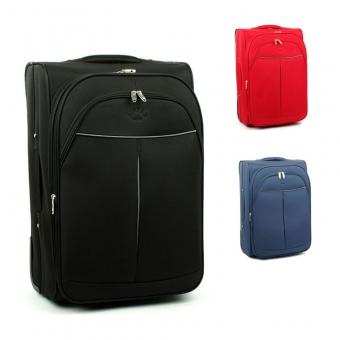2897 Duże walizki podróżne materiałowe na dwóch kółkach - Airtex