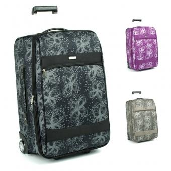2431 Duże walizki podróżne na kółkach z wzorem - Airtex