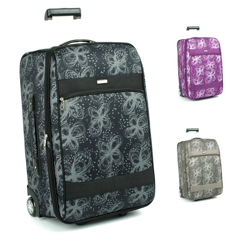 2431 Średnie walizki podróżne na kółkach z wzorem - Airtex