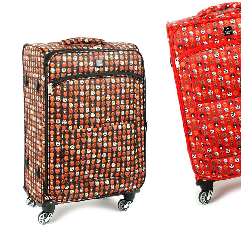 Średnia kolorowa walizka miękka dla dzieci młodzieżowa Airtex 6325