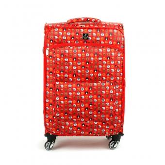 Mała kolorowa walizka miękka dla dzieci młodzieżowa lekka Airtex 6325 czerwona