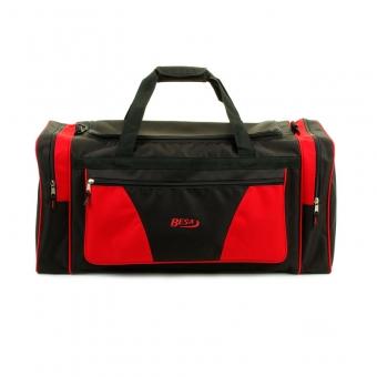 211 Duża torba podróżna do ręki materiałowa 80l - Besa czerwona