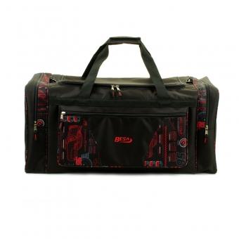 211 Duża torba podróżna do ręki materiałowa z nadrukiem 80l - Besa czerwona