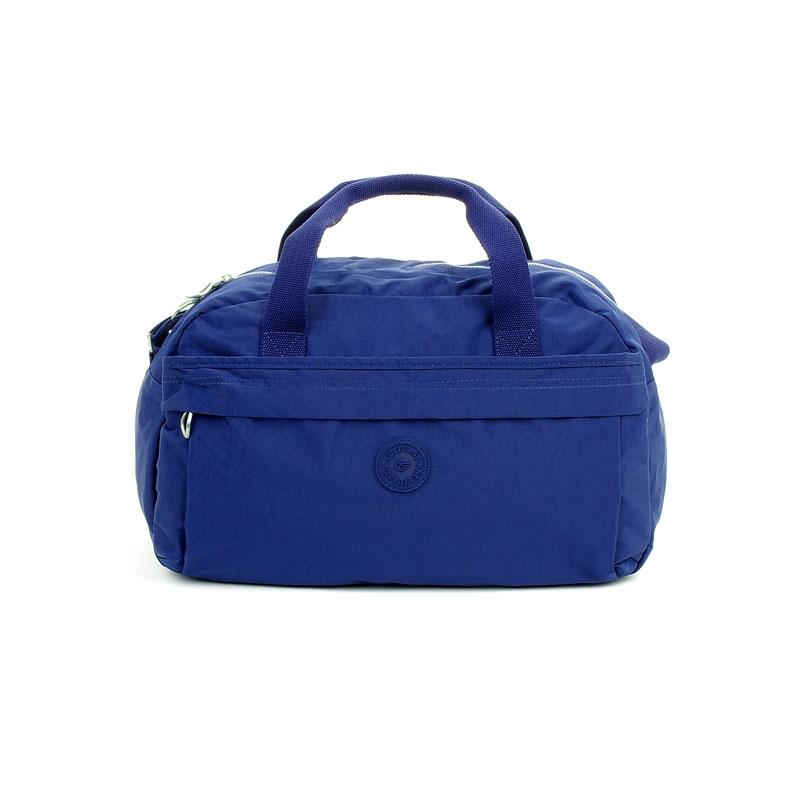 14149 Torba podręczna podróżna z mocowaniem do walizki - Suitcase niebieska habrowa