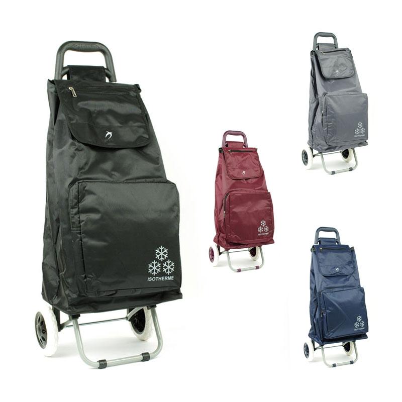 030 Torba wózek na zakupy na kółkach z kieszenią termiczną - Airtex