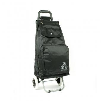 030 Torba wózek na zakupy na kółkach z kieszenią termiczną - Airtex czarny