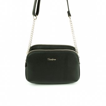 6200-2A Mała damska torebka listonoszka - David Jones czarna