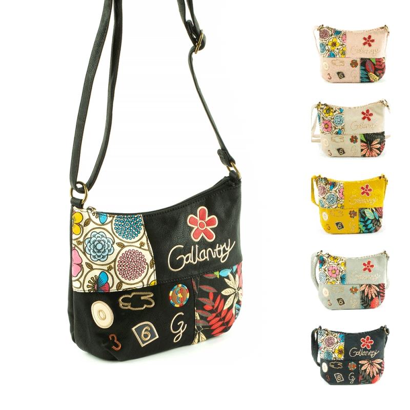F5053 Młodzieżowe torebki listonoszki z kolorowymi wzorami - Gallantry