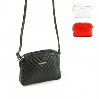 Q6106 Małe damskie torebki pikowane listonoszki na pasku - Gallantry