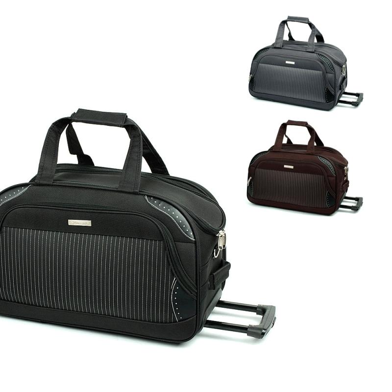 FB6 Średnie torby podróżne na kółkach usztywniane 60l - Laurent