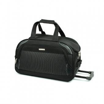 FB6 Średnia torba podróżna na kółkach usztywniana 60l - Laurent czarna