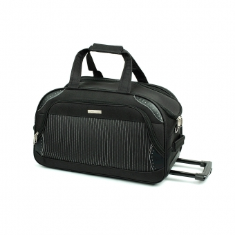 FB6 Mała torba podróżna na kółkach usztywniana 40l - Laurent czarna