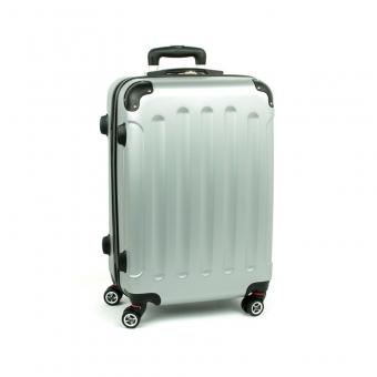 218 Duża walizka na czterech podwójnych kółkach ABS - ORMI srebrna