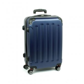 218 Średnia walizka na czterech podwójnych kółkach ABS - ORMI granatowa
