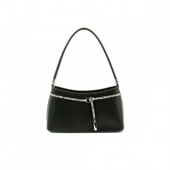 6781 Elegancka mała damska torebka do ręki i na ramię - TOM&EVA czarna