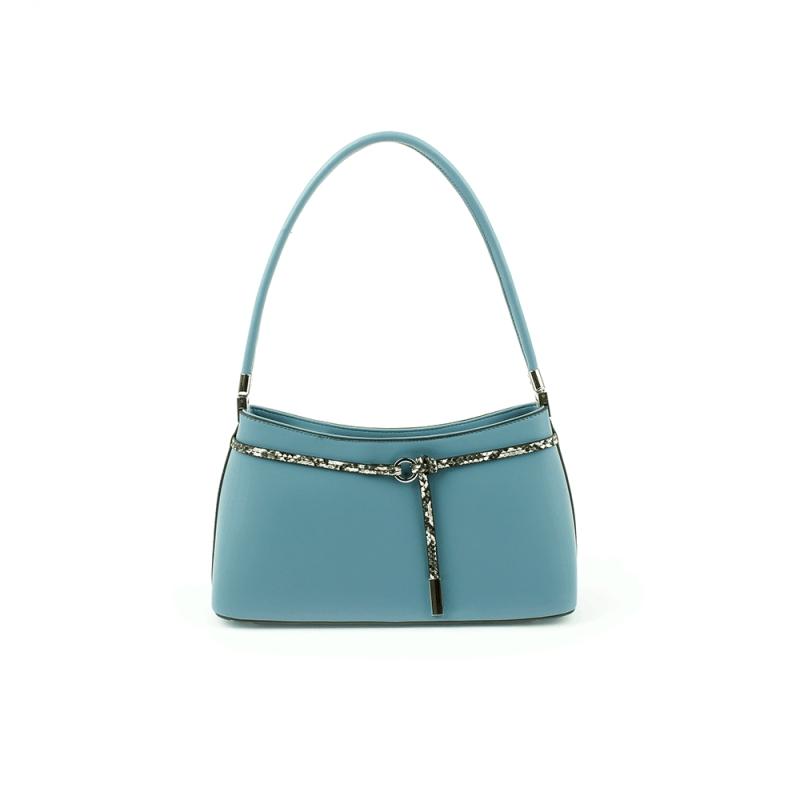 6781 Elegancka mała damska torebka do ręki i na ramię - TOM&EVA niebieska