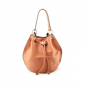 2679 Duża damska torebka na ramię worek 2w1 - TOM&EVA różowa