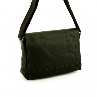 SD060-2 Duża torba męska na ramię listonoszka A4 - Bevers czarna
