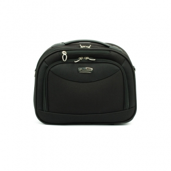 Kuferek na kosmetyki, kosmetyczka podróżna owalna - Madisson 44835A czarny