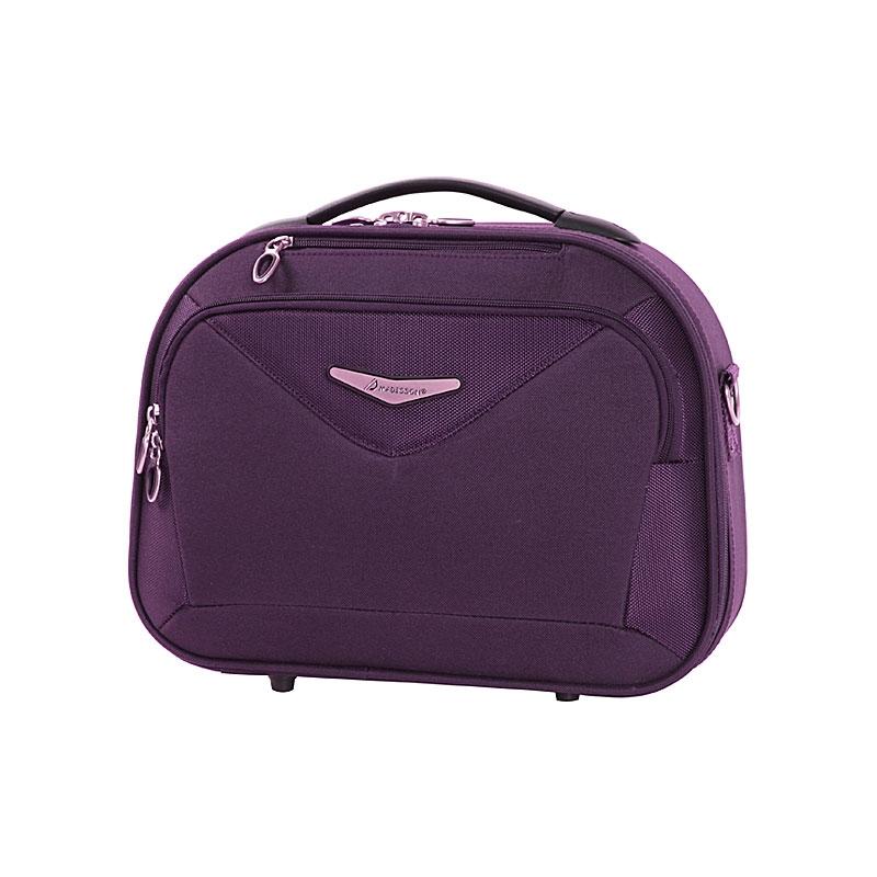 Kuferek na kosmetyki, kosmetyczka podróżna owalna - Madisson 44835A fioletowy