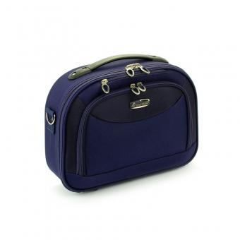 Kuferek na kosmetyki, kosmetyczka podróżna owalna - Madisson 44835A granatowy