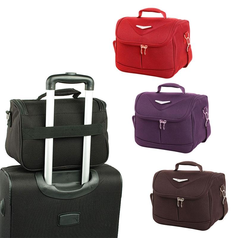 Kuferki podróżne do walizki kosmetyczki miękkie - Madisson 44835B