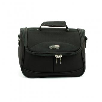 Kuferek podróżny do walizki kosmetyczka miękka - Madisson 44835B czarny