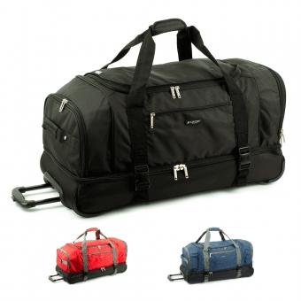 Duże torby podróżne na kółkach z podwójnym dnem 110L - Airtex 819/80
