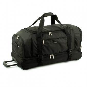 Duża torba podróżna na kółkach z podwójnym dnem 110L - Airtex 819/80 czarna