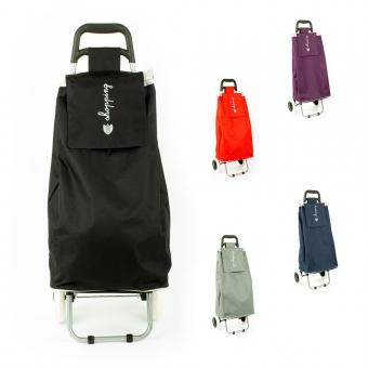 Torba wózek na zakupy na dwóch kółkach składana - Airtex 028