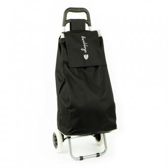 Torba wózek na zakupy na dwóch kółkach składana - Airtex 028 czarna