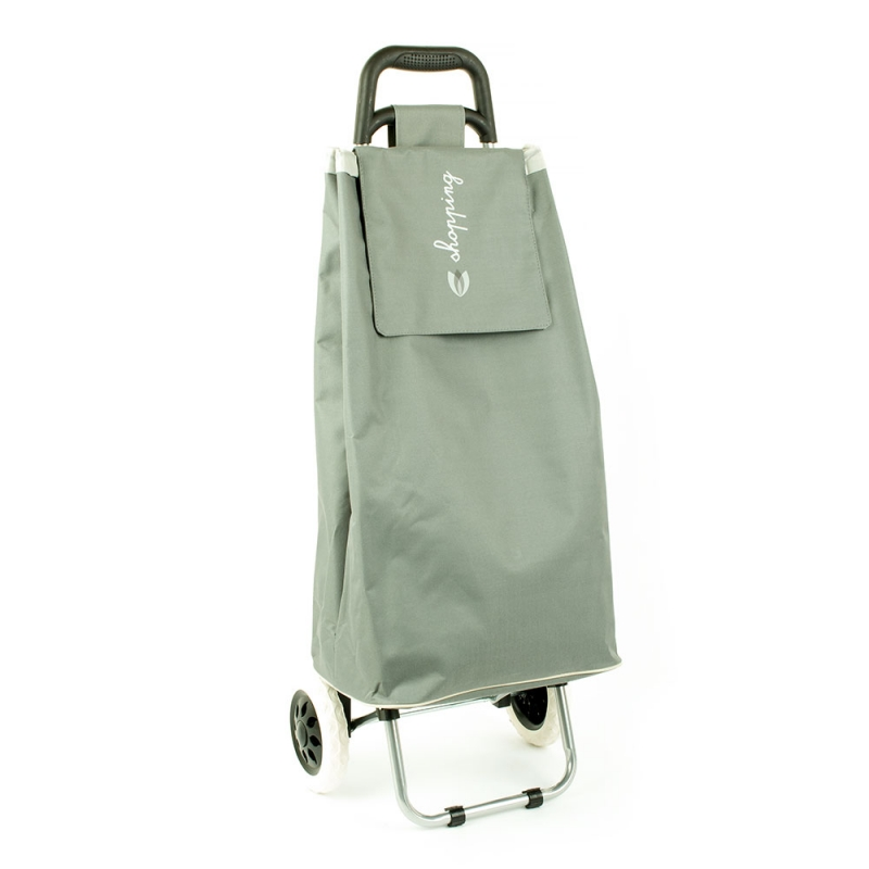 Torba wózek na zakupy na dwóch kółkach składana - Airtex 028 szara