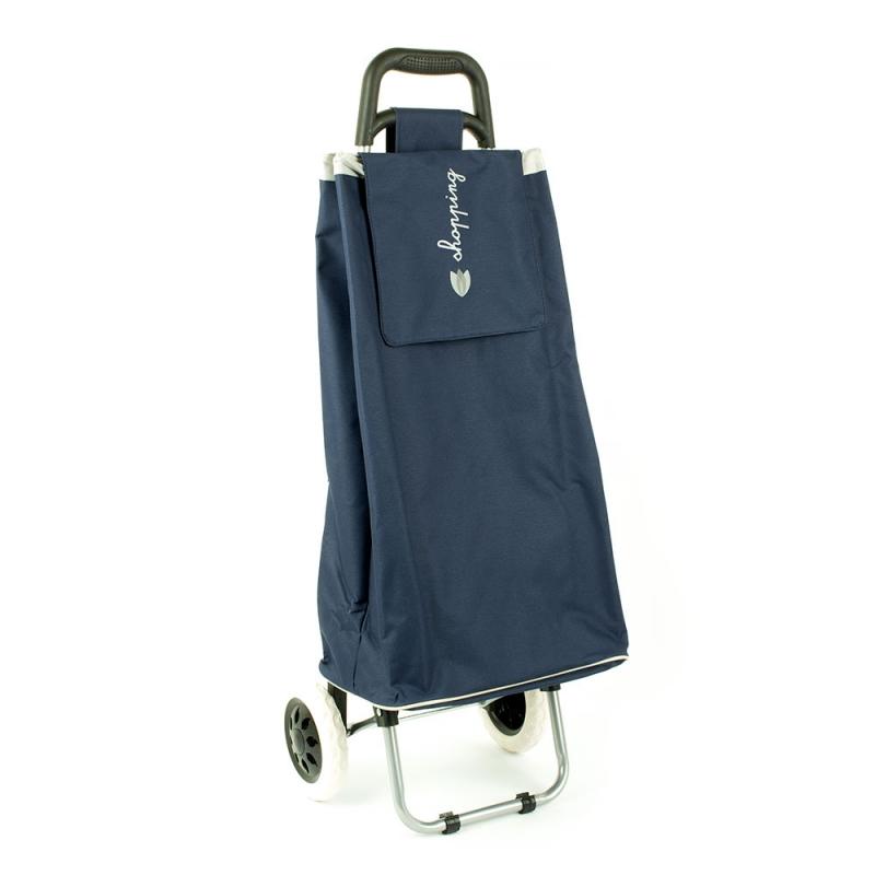 Torba wózek na zakupy na dwóch kółkach składana - Airtex 028 granatowa