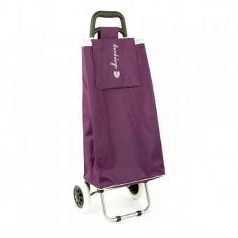 Torba wózek na zakupy na dwóch kółkach składana - Airtex 028 fioletowa