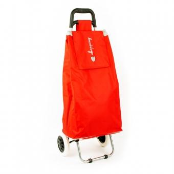 Torba wózek na zakupy na dwóch kółkach składana - Airtex 028 czerwona