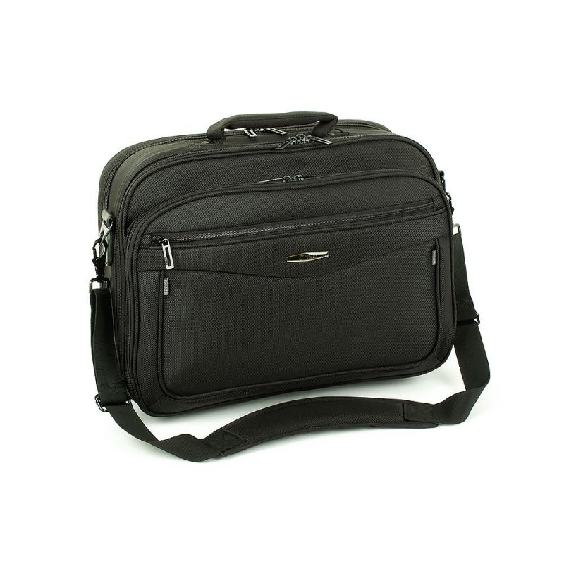 """Torba męska na laptopa 15,6"""" A4 materiałowa na ramię - Airtex 211"""