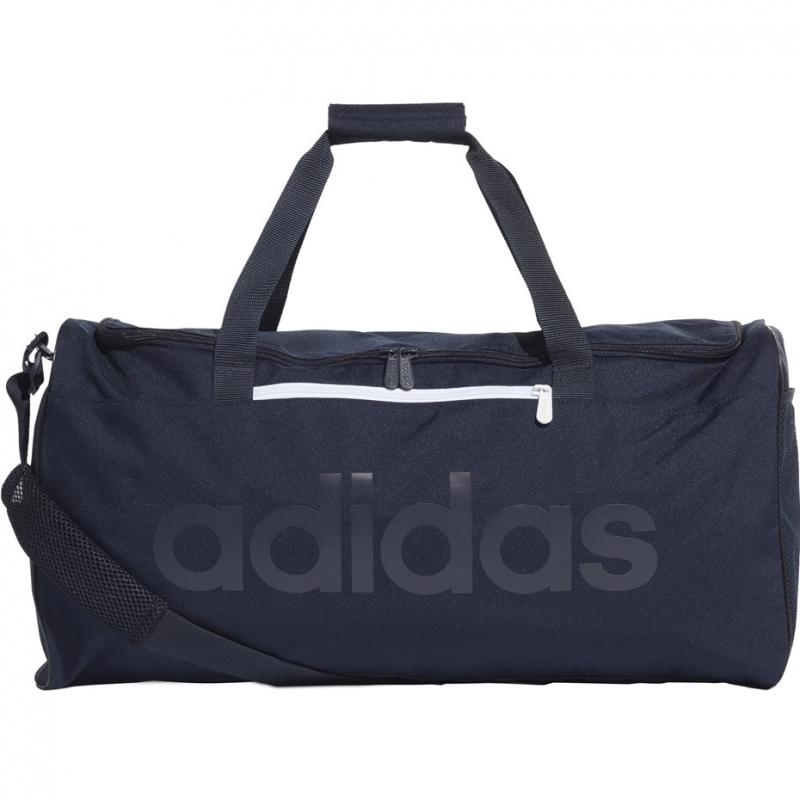 Torba sportowa treningowa na siłownię fitness Adidas Linear Core Duffel M granatowa