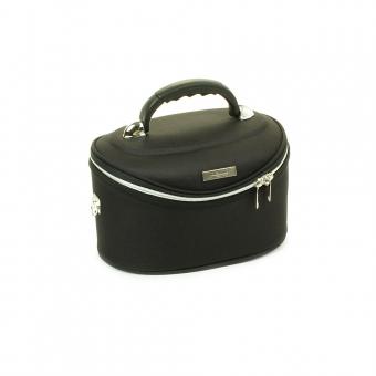 Średni kuferek na kosmetyki, kosmetyczka podróżna - Inter-Vion czarny