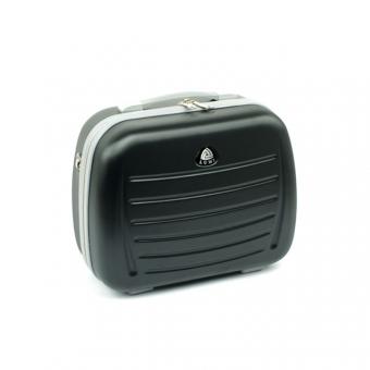 Średni kuferek na kosmetyki, kosmetyczka podróżna do walizki - ORMI 189 czarny
