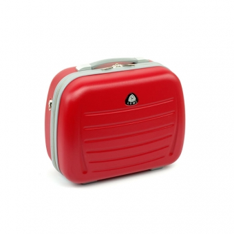 Średni kuferek na kosmetyki, kosmetyczka podróżna do walizki - ORMI 189 czerwony