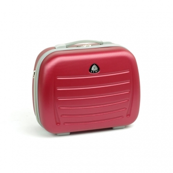 Duży kuferek na kosmetyki kosmetyczka podróżna do walizki - ORMI 189 bordowy