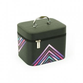 Kuferek na kosmetyki podróżna kosmetyczka damska - Inter-Vion 498814B czarny