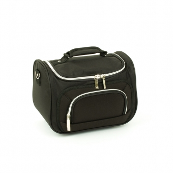 Duży kuferek na kosmetyki kosmetyczka podróżna do walizki Inter-Vion czarny