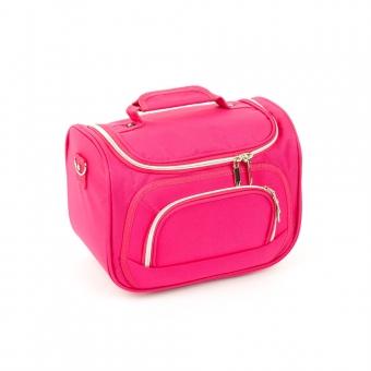 Duży kuferek na kosmetyki kosmetyczka podróżna do walizki Inter-Vion różowy