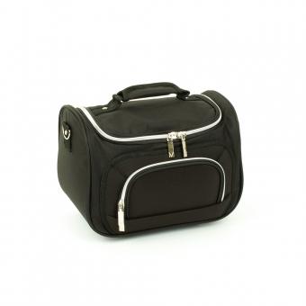 Średni kuferek na kosmetyki kosmetyczka podróżna do walizki Inter-Vion czarny