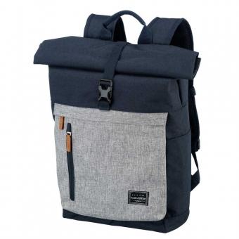 Plecak miejski rolowany na laptopa 15'6 damski męski Travelite granatowy