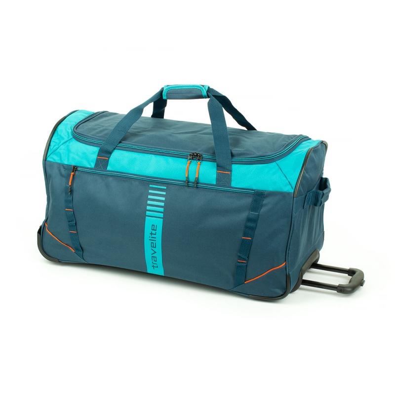 Torba podróżna na kółkach 80l miękka Travelite Basics Active 006281 niebieska morska