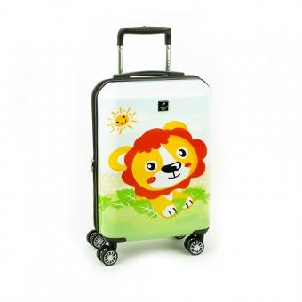 Mała kolorowa walizka na czterech kółkach dla dzieci lew Airtex 7295